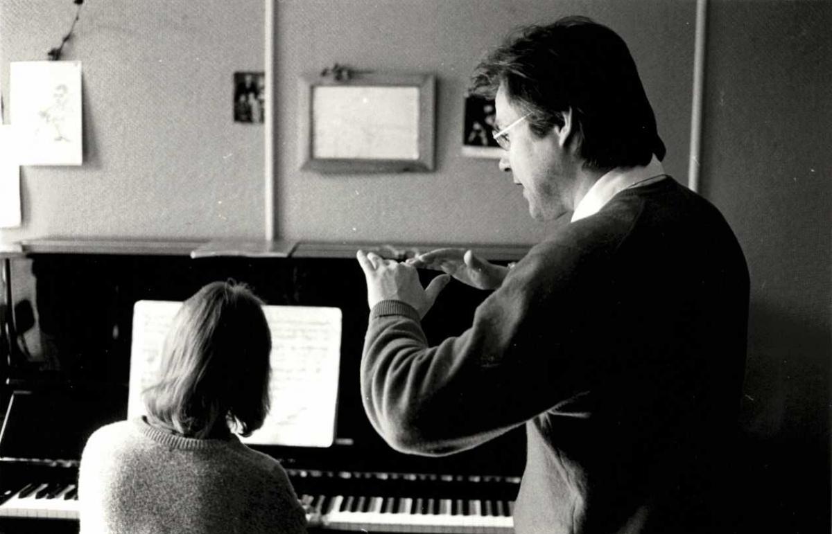 Pianonsoiton opetusta