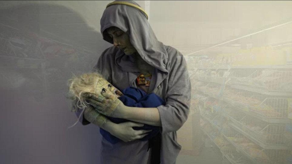 Jeesus ja Maria, Jeesusta esittää vanha nukke
