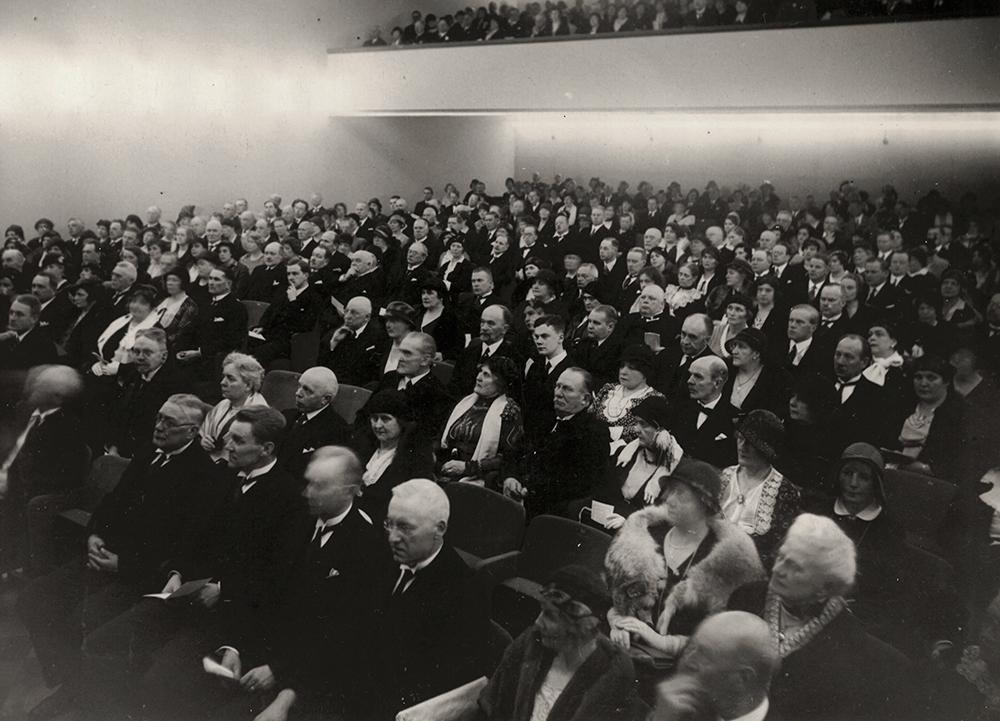 Människor i auditoriet