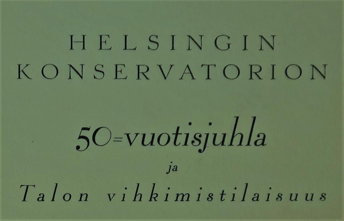 Konservatoriums 50-årsjubileum