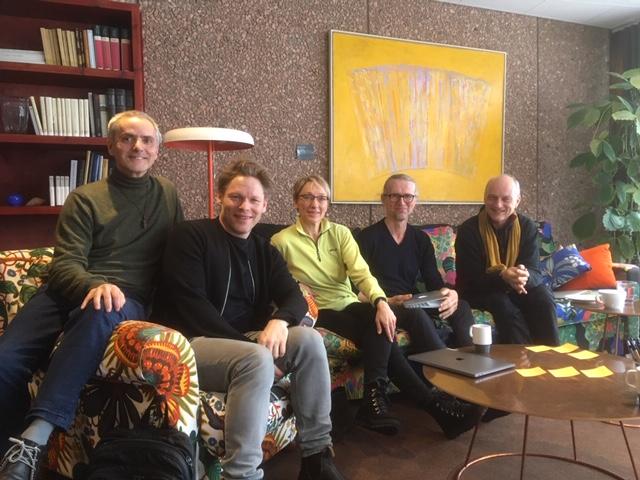 Joao da Silva, Rasmus Ölme, Kirsi Monni, Per Roar and Jeroen Fabius in Hanasaari.