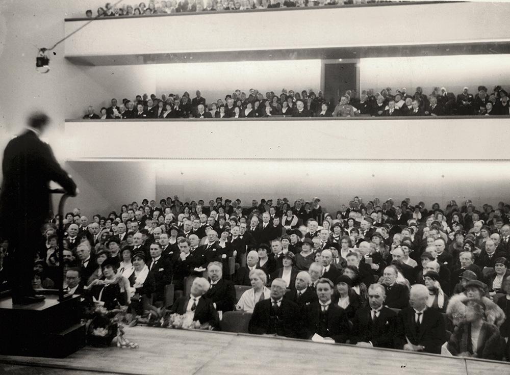 Invigningen av byggnaden och Helsingfors Konservatoriums 50-årsjubileum den 22 maj 1932.