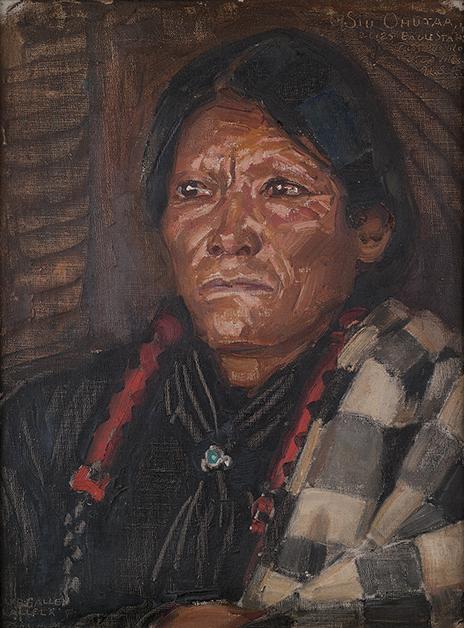 Akseli Gallen-Kallela: Intiaani Siu Ohutaa, 1924–1925