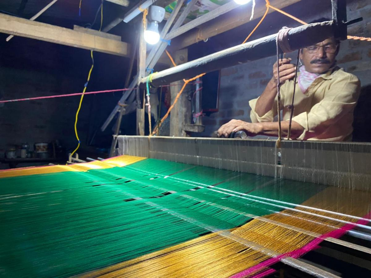 Hand-weaving.  Image provided by the interviewee
